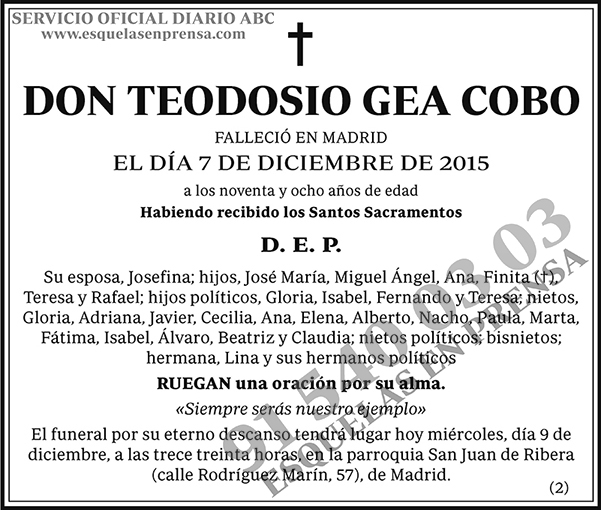 Teodosio Gea Cobo